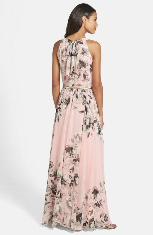 68ecbc80def Eliza J dlouhé růžové šaty s květy | Eliza J - Livien.cz