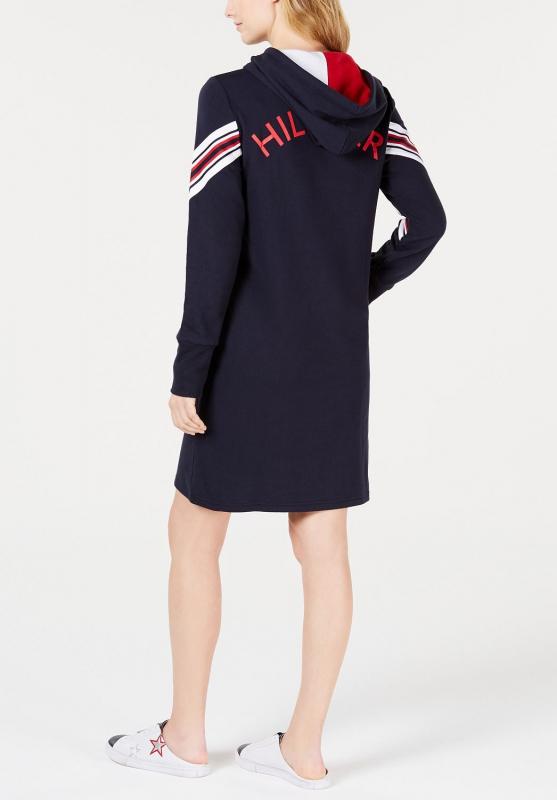 038a68b66 Tommy Hilfiger ležérní sportovní šaty modré s kapucí | Tommy ...