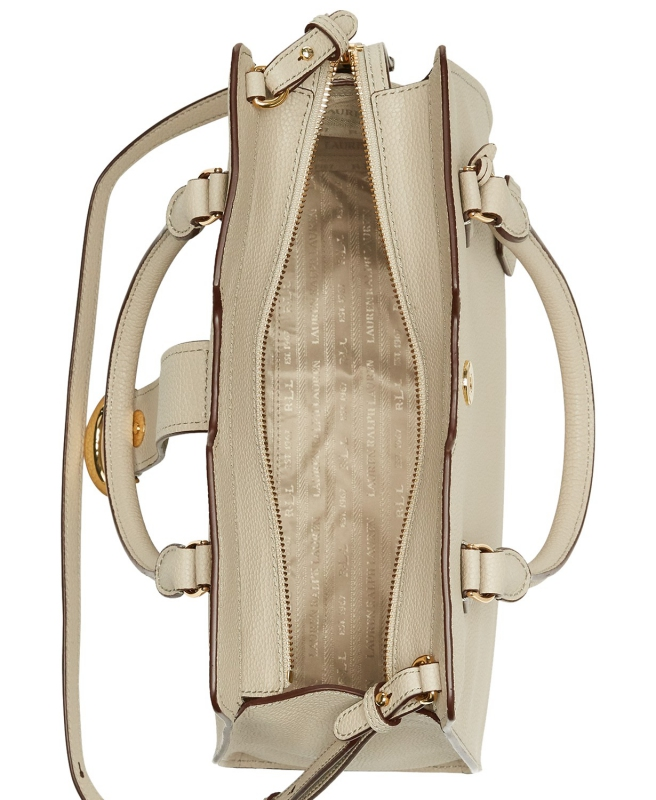 eccd5a2871 Ralph Lauren kožená kabelka Kenton satchel alpaca gold