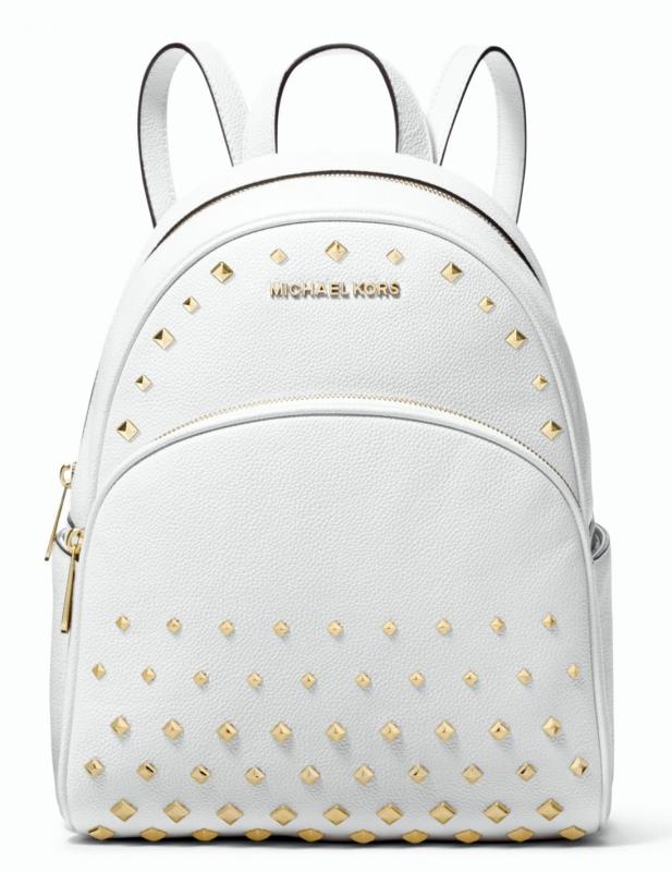 5995a9d0cb Michael Kors kožený bílý batoh Abbey medium