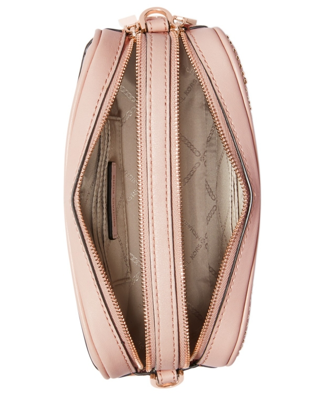 b87410d19d Michael Kors kožená crossbody kabelka quilted stud camera bag soft ...
