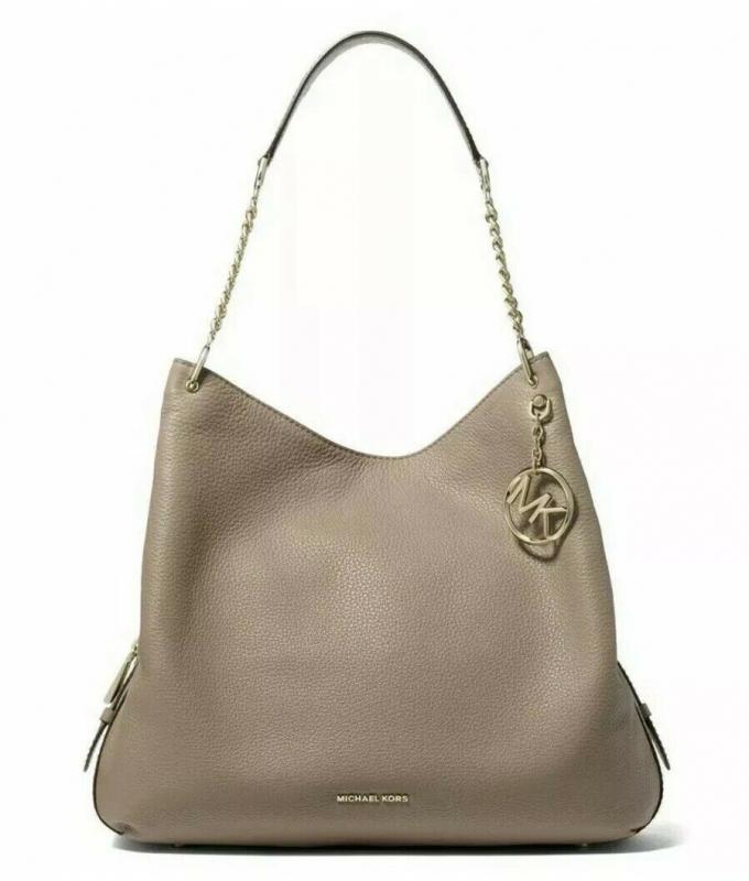 Michael Kors kožená kabelka Lillie shoulder bag truffle/gold