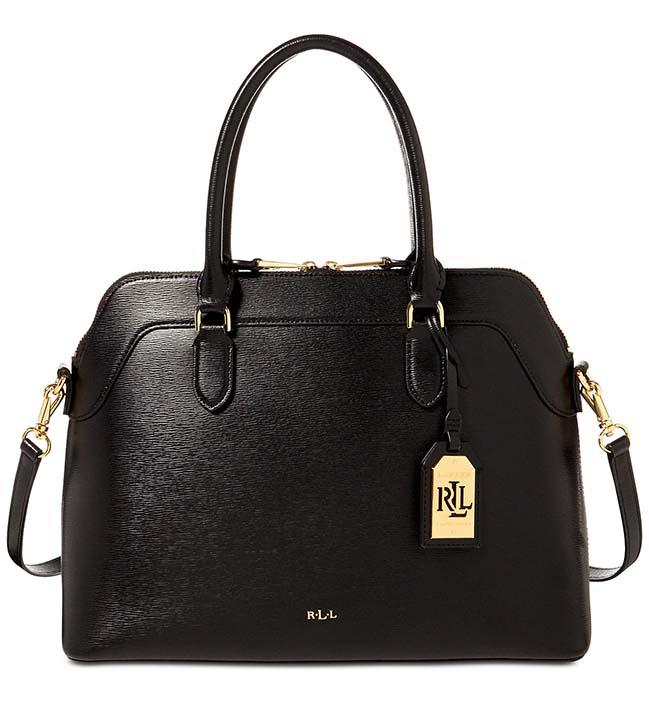 137ac56479 Ralph Lauren kožená kabelka Nora medium black