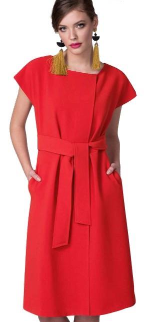 Closet London kimonové červené šaty - Livien.cz a1dbcea627f