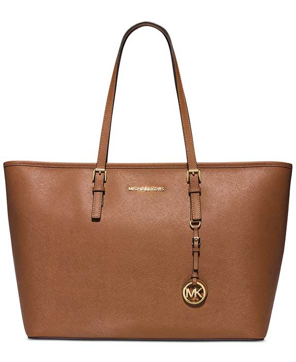 7a3aa852a0 Kožená kabelka Michael Kors multifunction top zip luggage