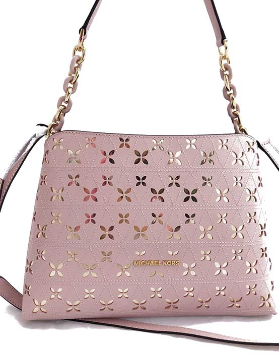 c119cda8d1 Kabelka Michael Kors Portia large leather blossom perforated ...