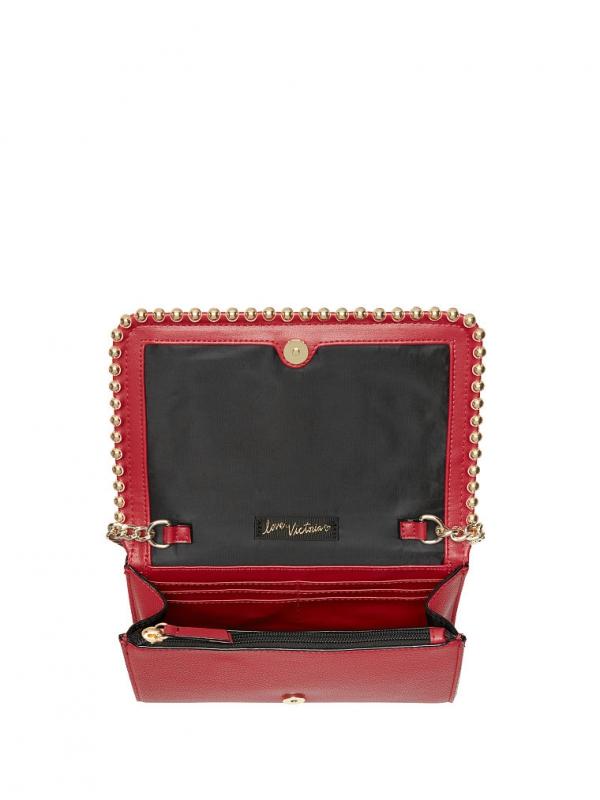 e28d67d0a7 Victoria´s Secret ball stud crossbody kabelka červená