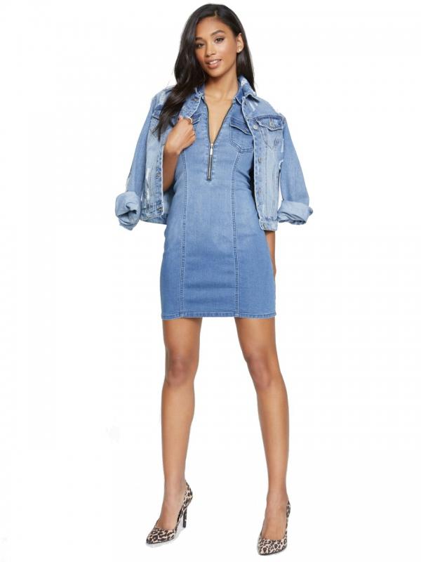 G by Guess džínové šaty medium wash  4fedf529ffd