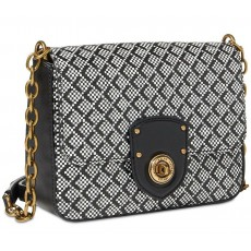 Ralph Lauren crossbody kabelka Millbrook chain black/white
