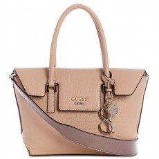 GUESS West side flap satchel tan