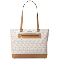 Michael Kors Frame out large north south tote vanilla