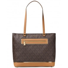 Michael Kors Frame out large north south tote brown