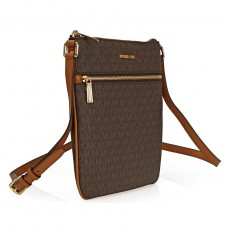 Michael Kors Bedford signature crossbody brown