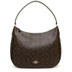 Coach kabelka hobo signature brown F29209