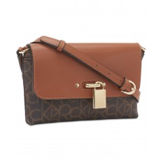 Calvin Klein crossbody Roxy signature brown