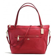 Coach kabelka Tyler pebble leather red 54687
