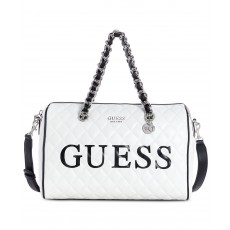 GUESS Sweet Candy satchel logo white/silver