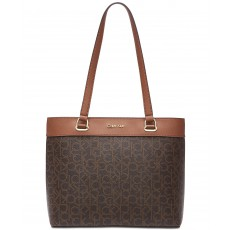 Calvin Klein Mercy signature tote brown/luggage