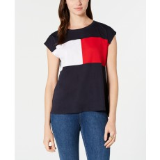 Tommy Hilfiger colorblocked tričko navy