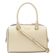 Calvin Klein Mercy saffiano satchel powder light sand/gold