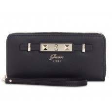 GUESS Cherie zip-around wristlet black