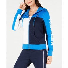 Tommy Hilfiger mikina na zip fleece colorblocked orca