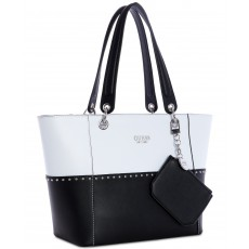 Guess kabelka Kamryn large tote black/white
