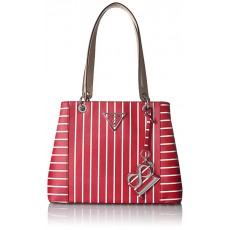 Guess kabelka Kamryn shopper red stripe