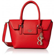 GUESS West side flap satchel red