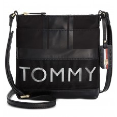 Tommy Hilfiger crossbody kabelka Julia black nylon mesh