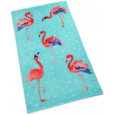 Martha Stewart Collection plážová osuška flamingo print