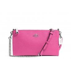 Coach crossbody Kylie mini leather pink