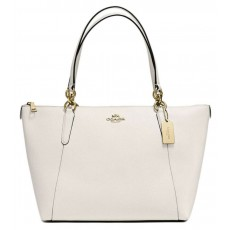 Coach kožená kabelka Ava crossgrain leather chalk white F57526