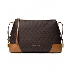 Michael Kors Crosby messenger kabelka signature brown