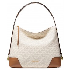 Michael Kors Crosby kabelka signature shoulder bag vanilla