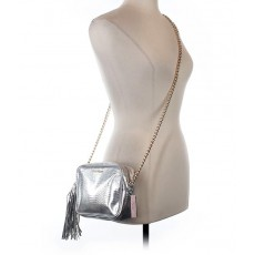 Malá kabelka Victoria´s Secret Fashion show crossbody metallic silver