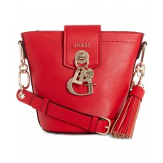 GUESS Gracelyn bucket bag red