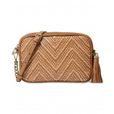 Michael Kors Woven medium leather crossbody acorn