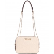 GUESS kabelka crossbody Heritage pink