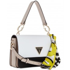 GUESS Analise flap crossbody white multi