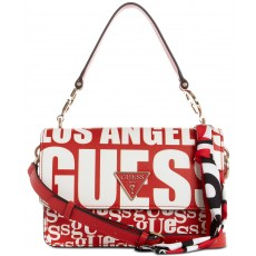 GUESS Analise flap crossbody red multi