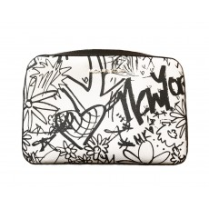 Michael Kors jet set large crossbody graffiti NY