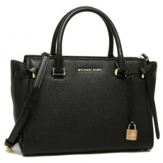 Michael Kors kabelka Cassie medium leather black