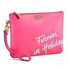 Victoria´s Secret PINK Forever on holiday palm tree gold clutch wristlet
