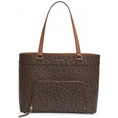 Calvin Klein Louise signature extra-large tote brown