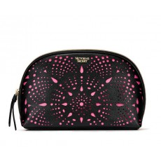Kosmetická taštička Victoria´s Secret perforated black pink
