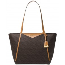 Michael Kors Whitney medium leather tote brown