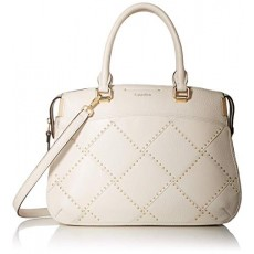 Calvin Klein kabelka Raelynn pebble leather outline stud satchel