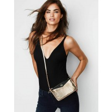 Victoria´s Secret mini crossbody kabelka heart černozlatá