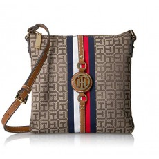 Tommy Hilfiger crossbody Jaden logo tan dark